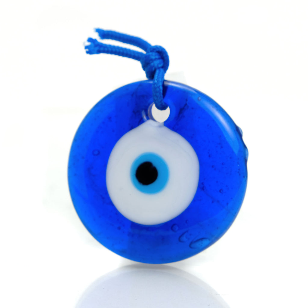 Evil Eye Glass Ornament 1 3/4""
