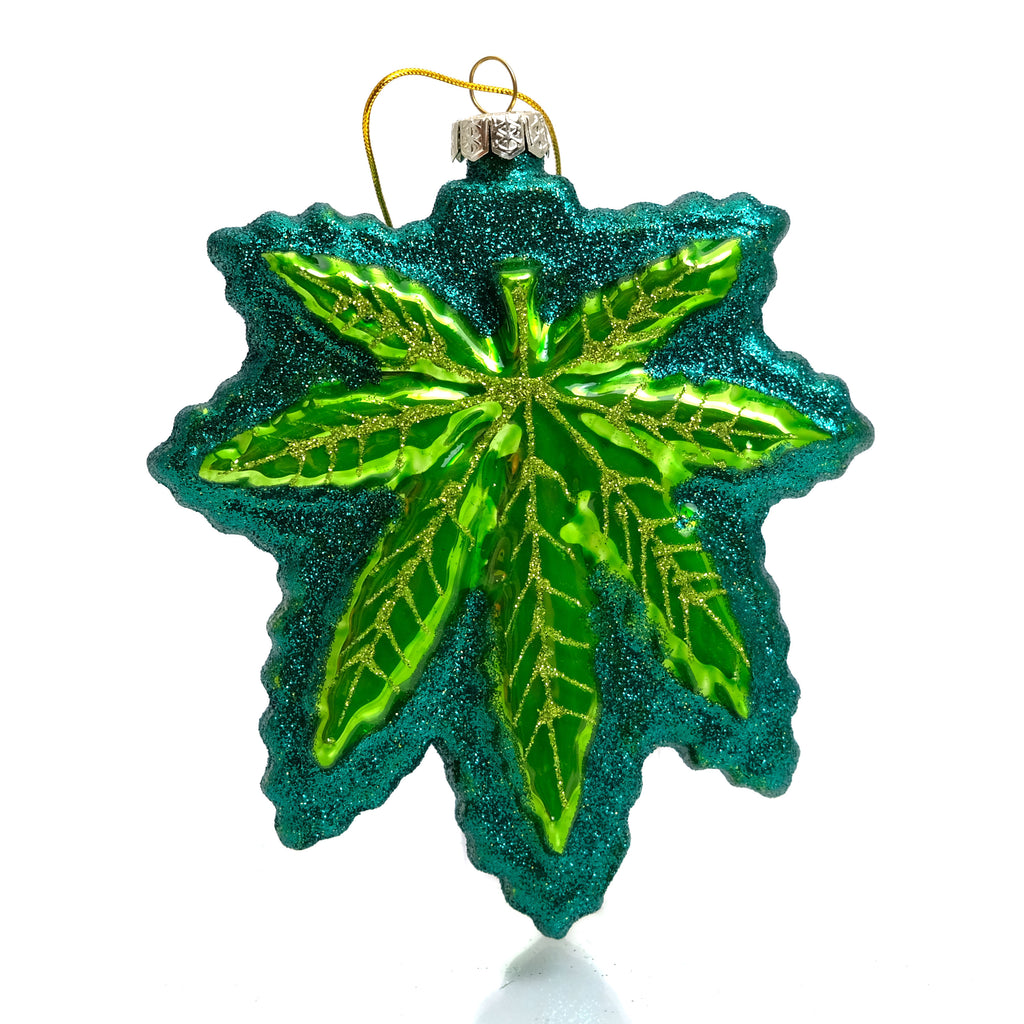 Cannabis Glass Ornament