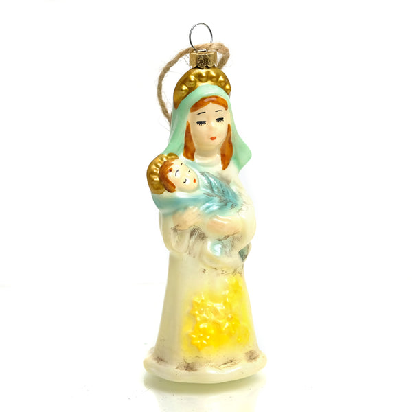 Retro Mary Glass Ornament