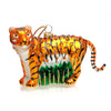 Jeweled Tiger Glass Ornament