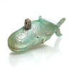 Victorian Whale Glass Ornament
