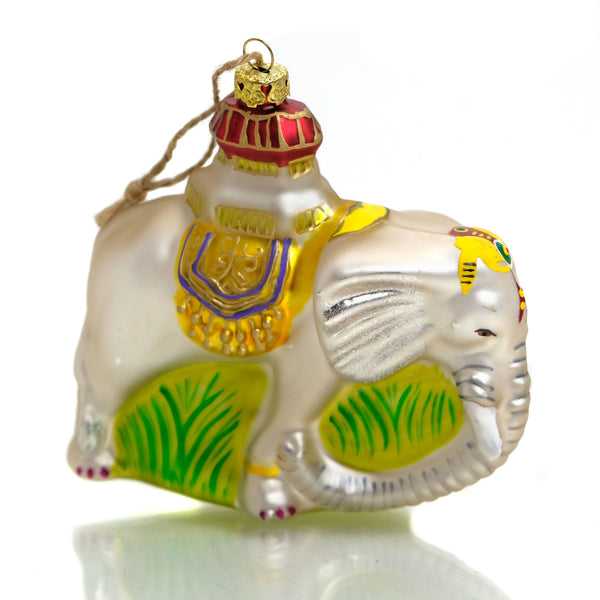 Palace Elephant Glass Ornament