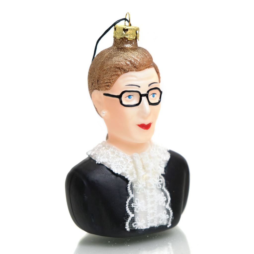 Ruth Bader Ginsburg Glass Ornament #1
