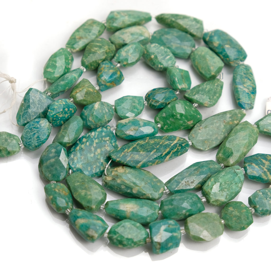 Amazonite Faceted Nuggets Strand