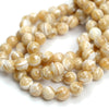 Mother of Pearl Smooth Rounds 12mm Strand