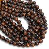 Red Tiger's Eye 12mm Faceted Rounds