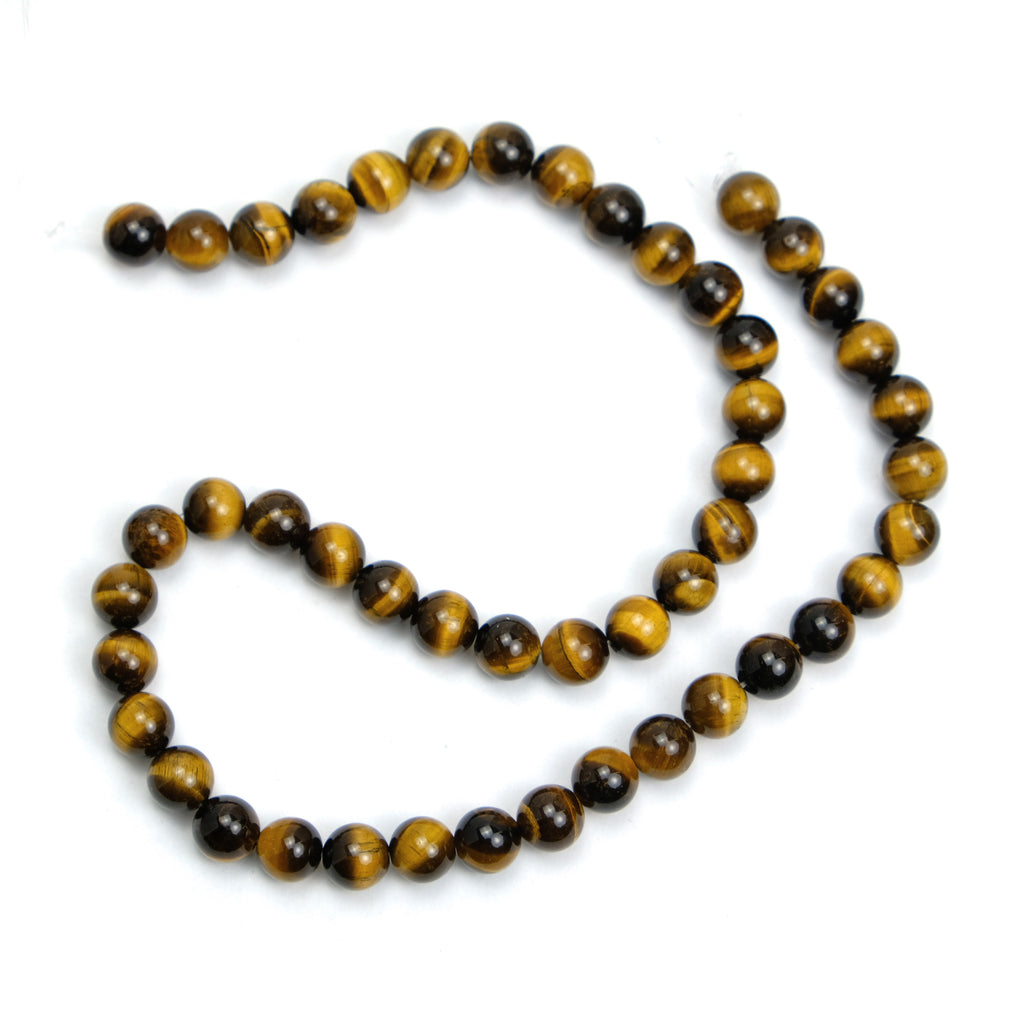 Tiger's Eye 8mm Smooth Rounds