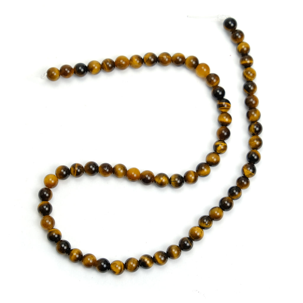 Tiger's Eye 6mm Smooth Rounds