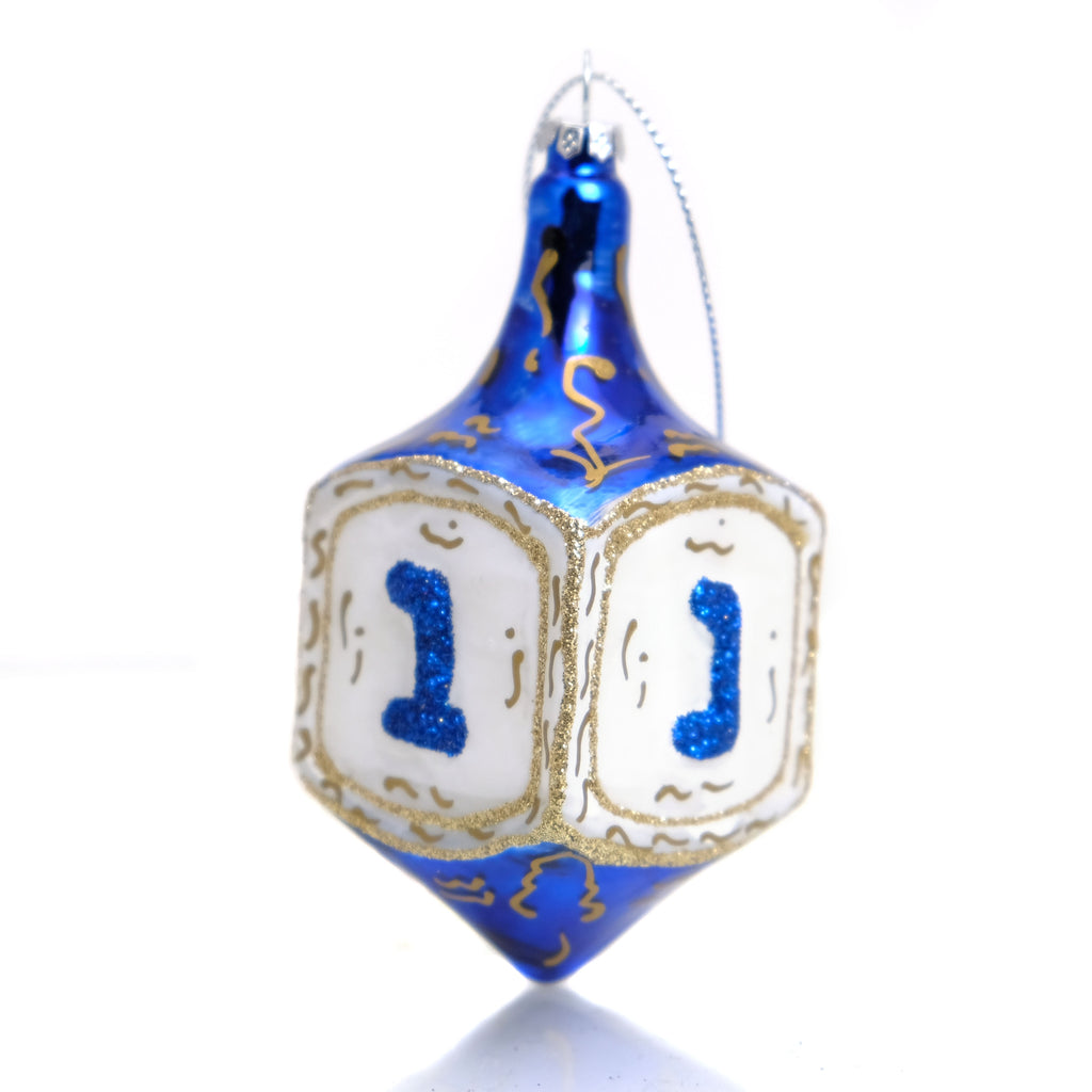 Dreidel Glass Ornament