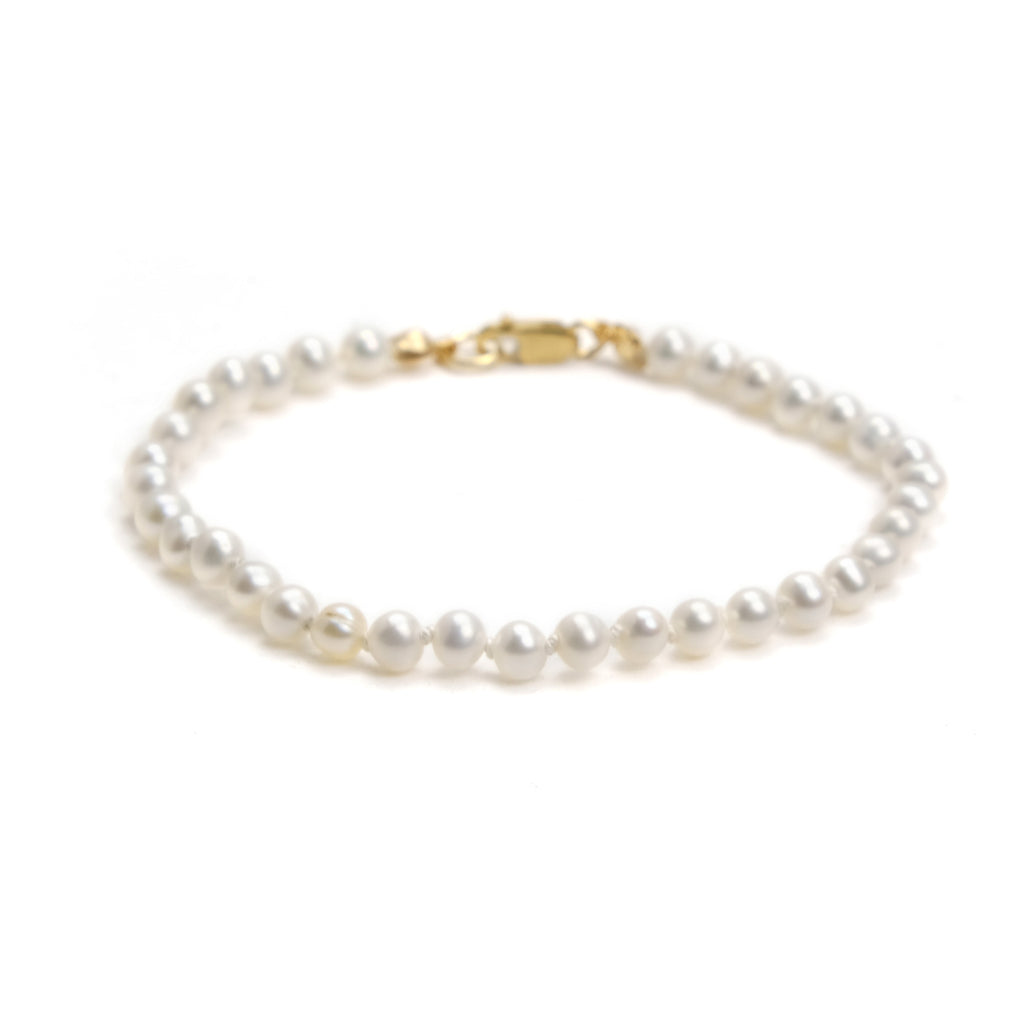 Fresh Water Pearl Knotted Bracelet With Gold Filled Lobster Clasp