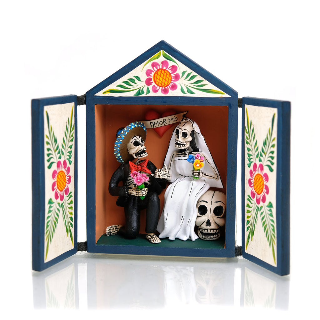 Skeleton Wedding Retablo