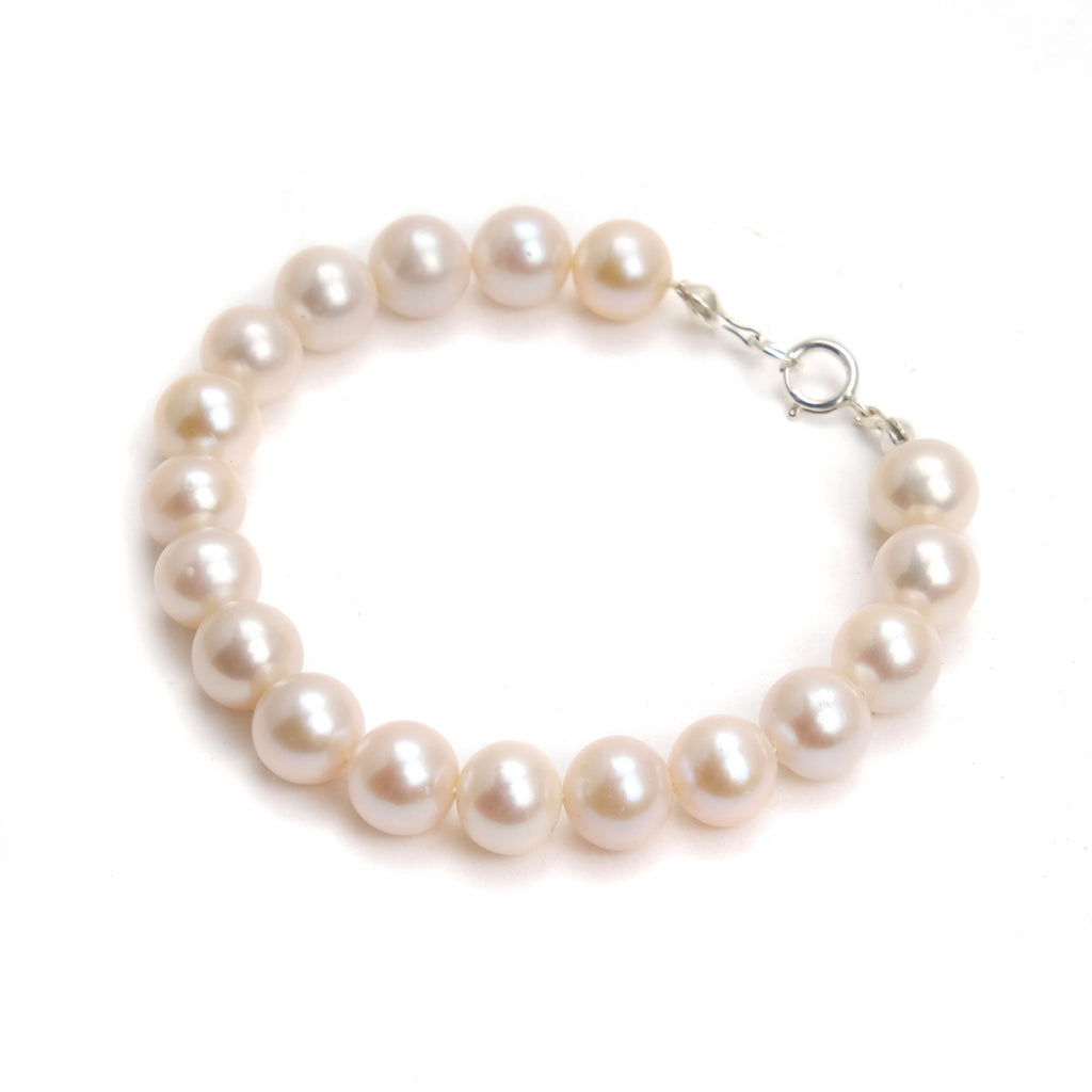 Fresh Water Pearl Bracelet With Sterling Silver Spring Clasp