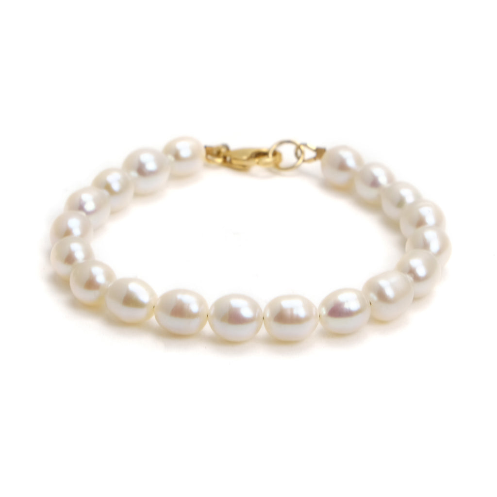 Fresh Water Pearl Bracelet With Gold Filled Trigger Clasp