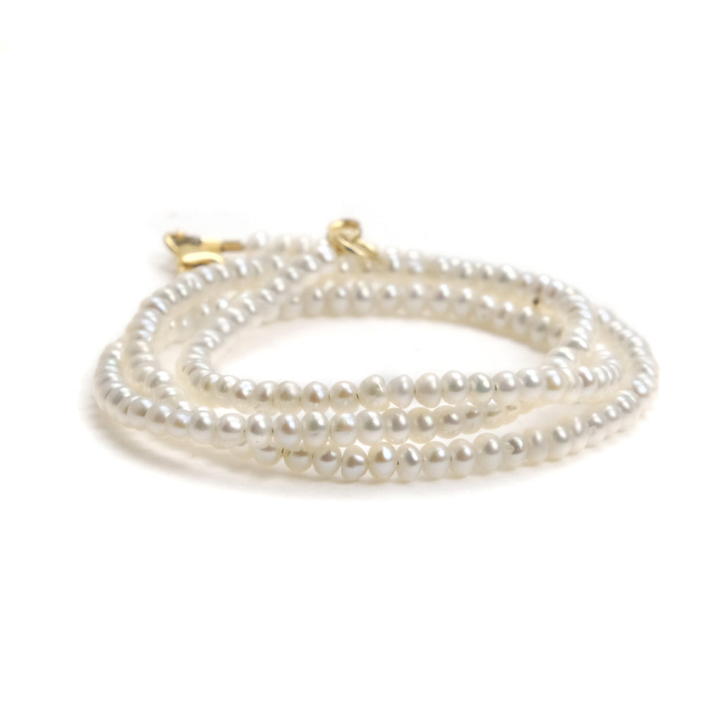 Fresh Water Pearl Necklace with Gold Fileed Trigger Clasp