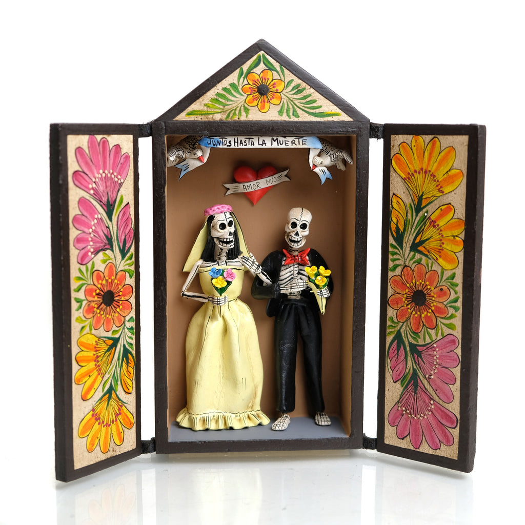 Skeleton Couple Retablo