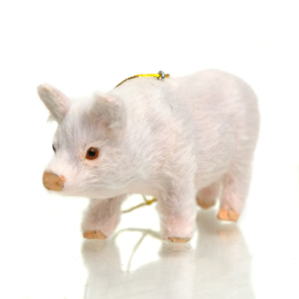 Furry Pig Ornament