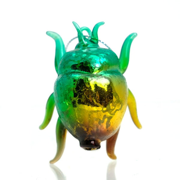 Bright Beetle Glass Ornament 2