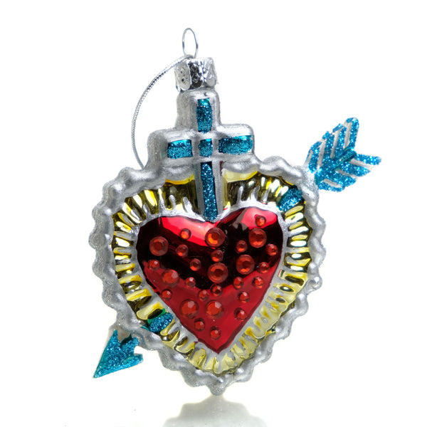 El Corazon Glass Ornament