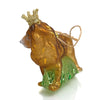Crowned Lion Glass Ornament