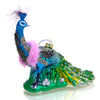 Imperial Peacock Glass Ornament