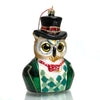 Owl Gent Glass Ornament