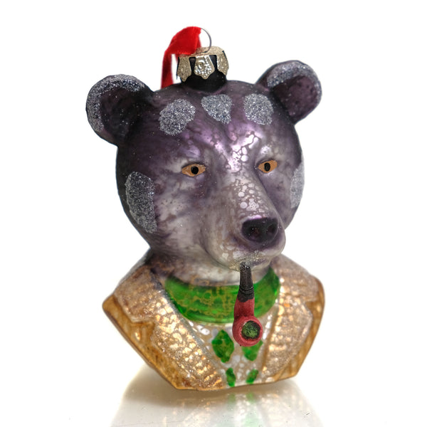 Mr. Bear Glass Ornament