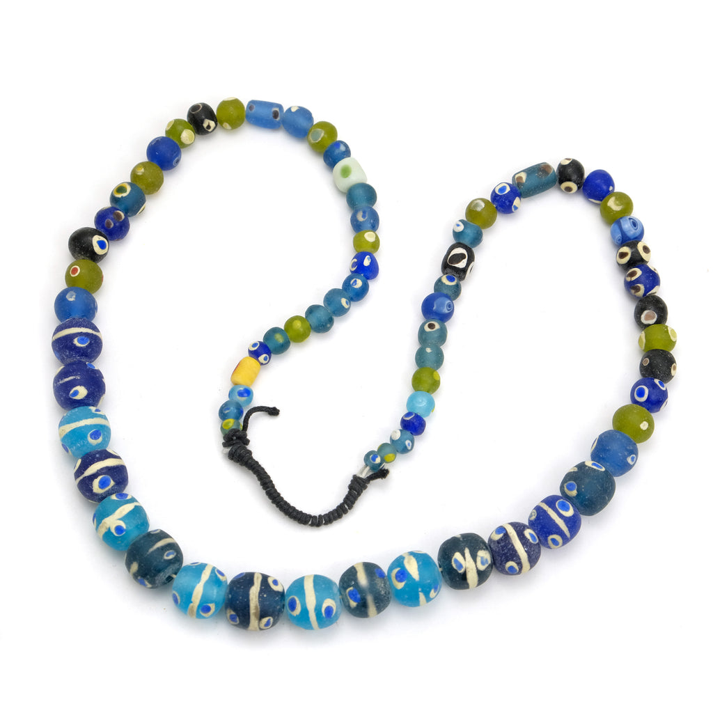 Contemporary Java Glass Roman Eye Beads Style Strand #3