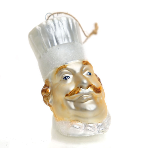 Chef Glass Ornament