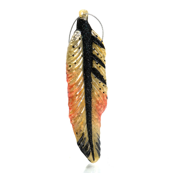 Wild Feather Glass Ornament