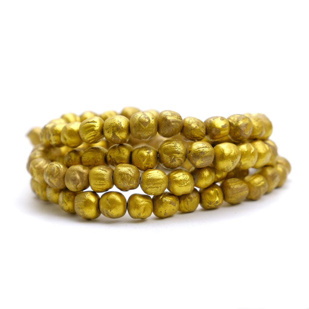 Gold Leaf Buddha Mala 9mm