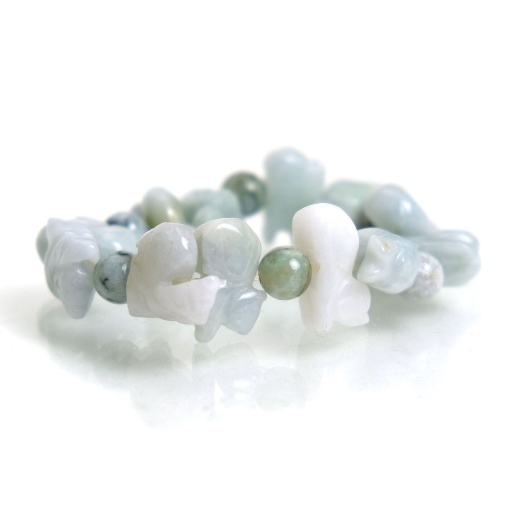 Jade 12 Piece Zodiac Animal Bracelet