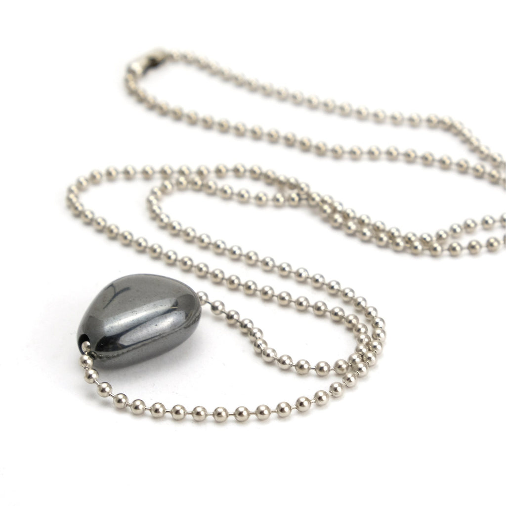 Hematite Ball Chain Necklace