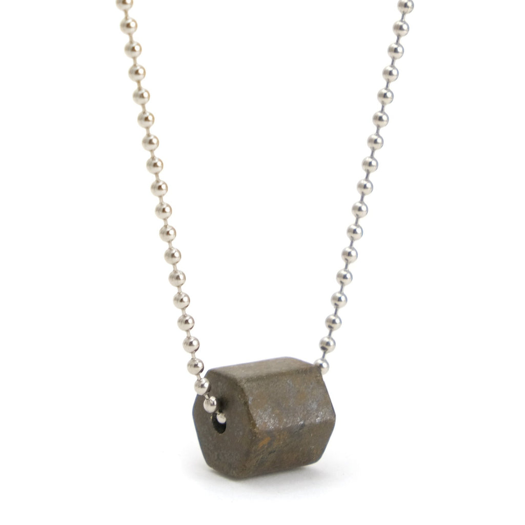 Pyrite Ball Chain Necklace