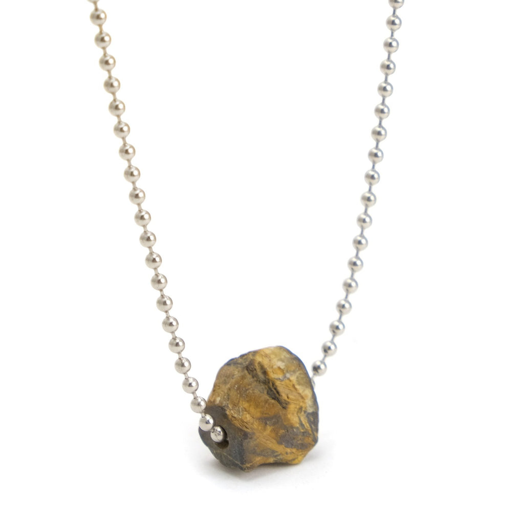 Tiger's Eye Ball Chain Necklace