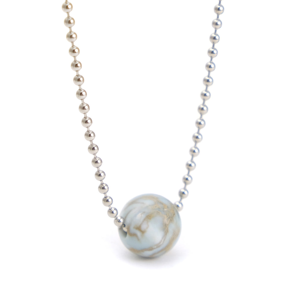 African Opal Ball Chain Necklace