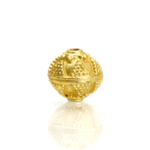 22K Gold Plated Over Sterling Silver Bead #20