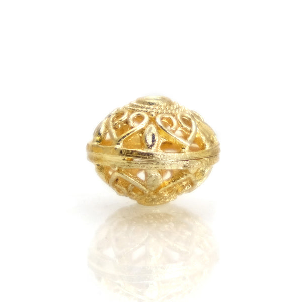 22K Gold Plated Over Sterling Silver Bead #19