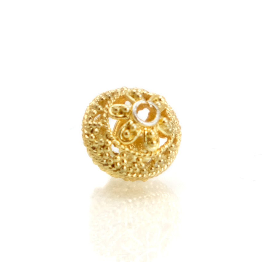 22K Gold Plated Over Sterling Silver Bead #17