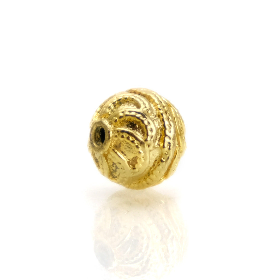 22K Gold Plated Over Sterling Silver Bead #16