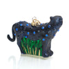 Jeweled Panther Glass Ornament