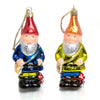 Traveling Gnome Glass Ornament