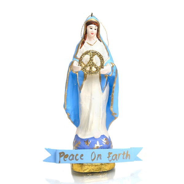 Our Lady Virgin Mary Peace on Earth Ornament