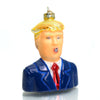 Donald Trump Glass Ornament