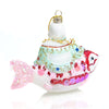 Lucky Fat Buddha Abundance Fish Glass Ornament