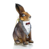 Dapper Hare Rabbit Glass Ornament