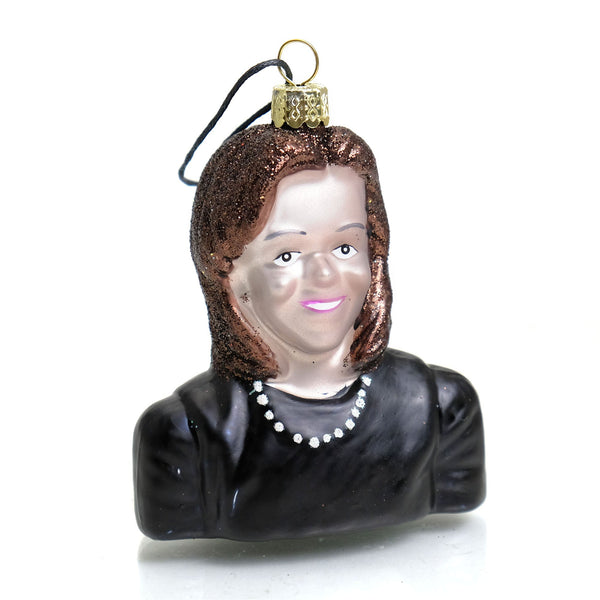 First Lady Michelle Obama Glass Ornament