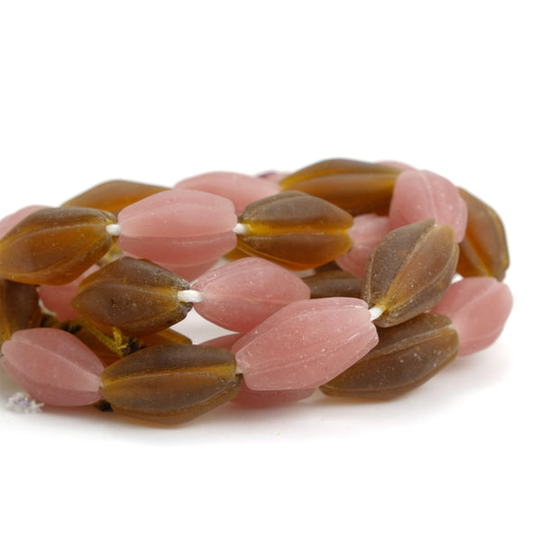 Melon Shaped Bead Strand