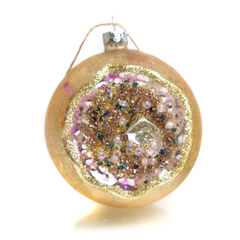 Geode Glass Ornament