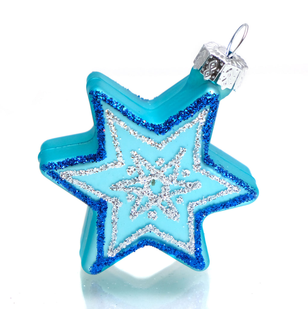 Star of David Glass Ornament