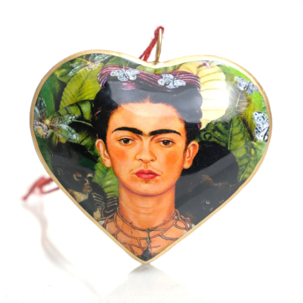 Viva Frida Heart Ornament